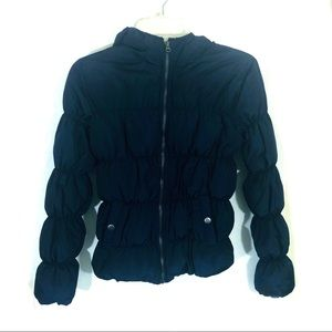 Bethany Mota Navy Blue puffer hooded jacket